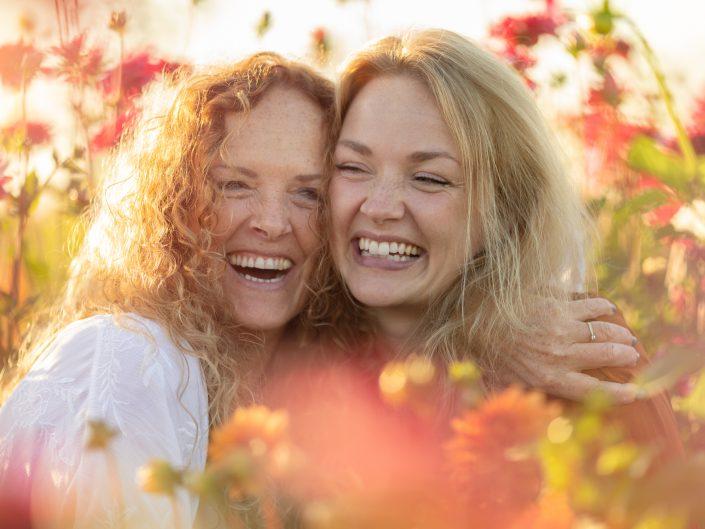 Bloementuin | Moeder en dochter