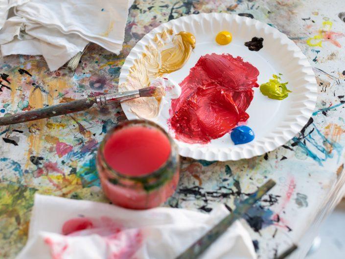 schilderen kind kinderfotograaf lelystad vangogh museum activiteiten verjaardagsfeestje