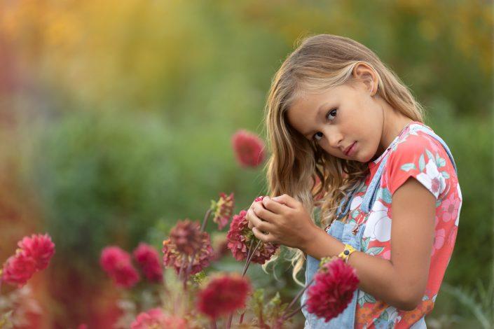 Fotoshoot Flevopolder tussen de bloemen