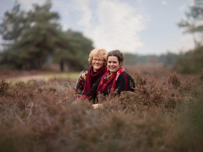 fotoshoot heide en het bos bij Doornspijk