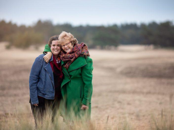 fotoshoot heide en het bos bij Zandverstuiving Doornspijk