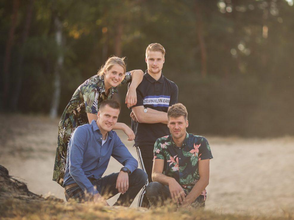 veluwe familie gezin fotoshoot gouden uur heide fotograaf Veluwe
