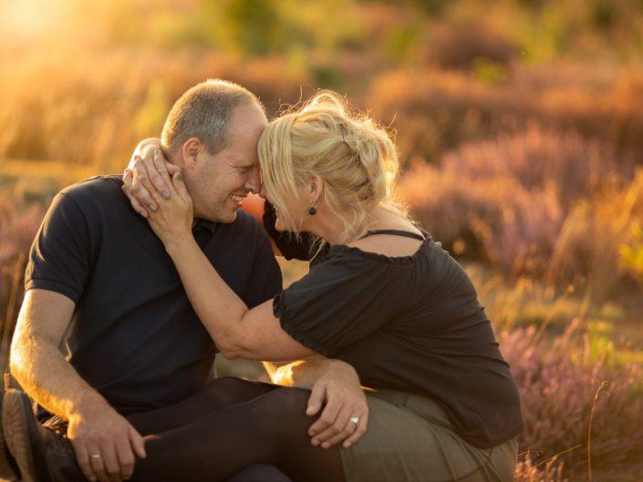 veluwe familie gezin fotoshoot gouden uur heide fotograaf Harderwijk
