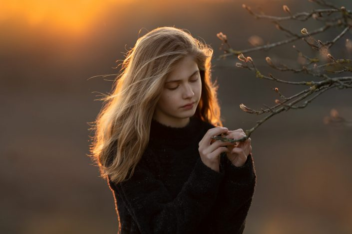 Lente Fotoshoot heide gouden uurtje