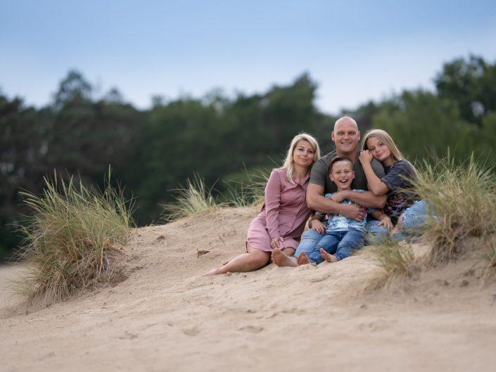 Fotoshoot op de zandverstuiving bij Doornspijk