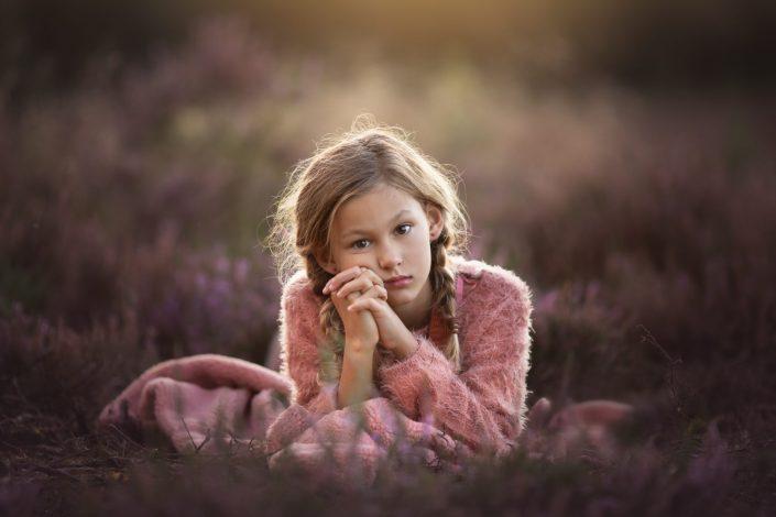 paarse heide fotoshoot