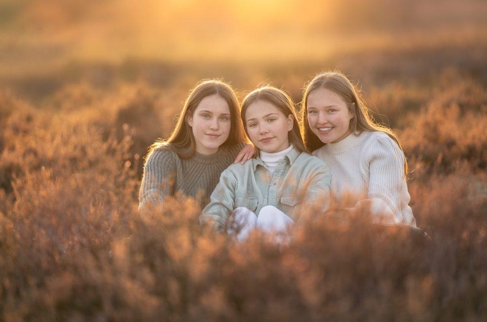Portret fotoshoot met drie zusjes
