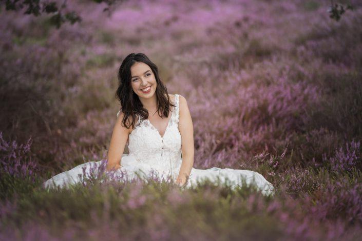 trouwshoot paarse heide
